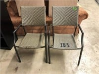 2 Patio Chairs & 2 Round Patio Tables