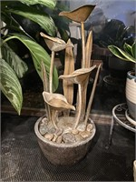 Copper and Composite Lily Water Fountain