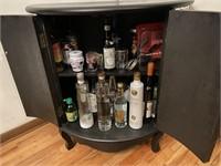 Demilune Mirrored Front Mini Bar