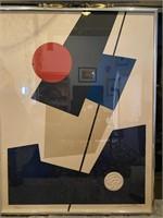 Orig Block Debutler Framed Print, signed 129/260