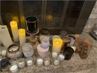 Assortment of Candles & Dutch Wooden Shoe Molds