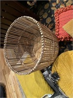 Woven Basket, Blankets, Table Runners and Pillows