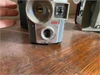 3 Pcs. Kodak and Anscoflex Cameras and Camera Box