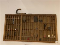 Antique Printers Drawer with Letters