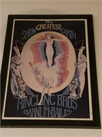 Ringling Bros Greatest Show on Earth Framed Poster