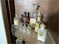 6 Pcs. Early Apothecary and More Bottles