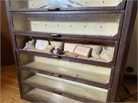 Rare Fleisher Yarns General Store Display Cabinet
