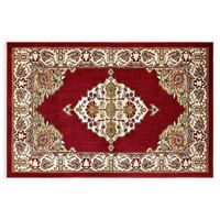 """2'x3"""" x 3'x7"""" Washable Accent Rug in Red"""