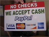 Accepted forms of payment!!! NO CHECKS!!