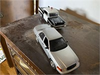 2 Pcs. Crown Vicotoria & 57 Chevy Model Cars