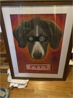 Framed Hypnotized Dog Print