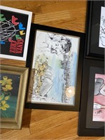 5 Pcs. Includes Framed Characatures, Prints and Po