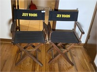 "2 Pcs. Director Chairs from on Set of ""Homicide H"