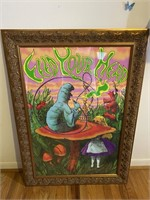 Framed Alice in Wonderland Poster