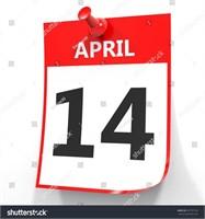 April 14th @ 7 pm KEEP CHECKING BACK!!!