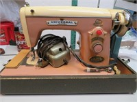 Vintage Universal Sewing Machine with Case