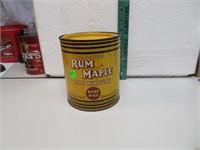 Vtg Original Rum & Maple Pipe Tobacco Mixture Tin