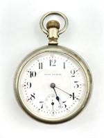 Seth Thomas 17 Jewels Silver Case Pocket Watch -