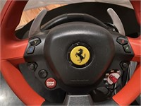 Ferrari Driving Wheel For Gaming + Pedals