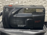 Olympus electronic flash A16 AX, MINOLTA memory