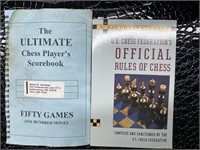 Chess set with chess players scorebook, official