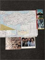 Vintage Camera  chinese Signed Poster Book Map and More