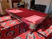GARNET FELT 8' POOL TABLE
