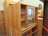Large Lot of Wooden Display Cabinets