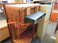 File Cabinet, Bookshelf & Wooden Table