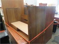 Wooden Desk, Bookshelves & More