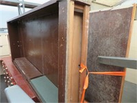 Large Lot of Assorted Wood Cabinets, Shelving, Cha