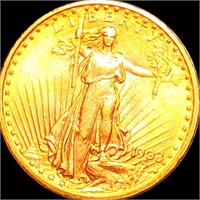 1908 $20 Gold Double Eagle UNCIRCULATED NM