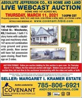WINCHESTER, KS ABSOLUTE REAL ESTATE WEBCAST AUCTION