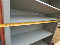 Wooden Bookshelf, Metal Rolling Cart, Mail Organiz