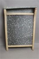 WOODEN WASH BOARD 12X20 ENAMEL BOARD