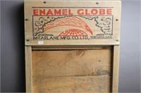 ENAMEL GLOBE WASH BOARD 12X24