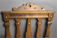 EARLY WOODEN WALL MOUNT MAGANIZE HOLDER