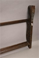 CARVED WOODEN WALL MOUNT PLATE HOLDER 15X38