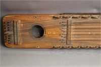 EARLY WOODEN STRINGED INSTRUMENT 8X2X28