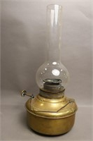 VALOR OIL LAMP WITH GLASS SHADE 9X19