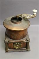 COPPER COFFEE GRINDER 7X7X8