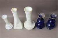 GROUP OF 5 VASES