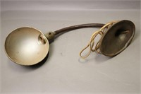 TWO DESK LAMPS WITH SHADES