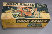 SHOWA ROAD ROLLER BATTERY OP TOY WITH BOX