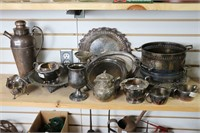 LOT OF SILVER PLATE ITEMS