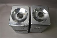 THREE METAL CANISTERS