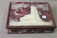TRUMP PLAZA HOTEL CARVED PLAYING CARDS STORAGE BOX
