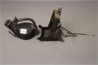 TWO EARLY WHALE OIL LAMPS