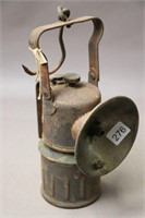 "MINERS LAMP 10"" TALL"