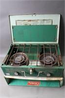 COLEMAN CAMP STOVE WITH BOX 18X12X5